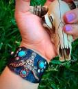 longhornbraceletgray