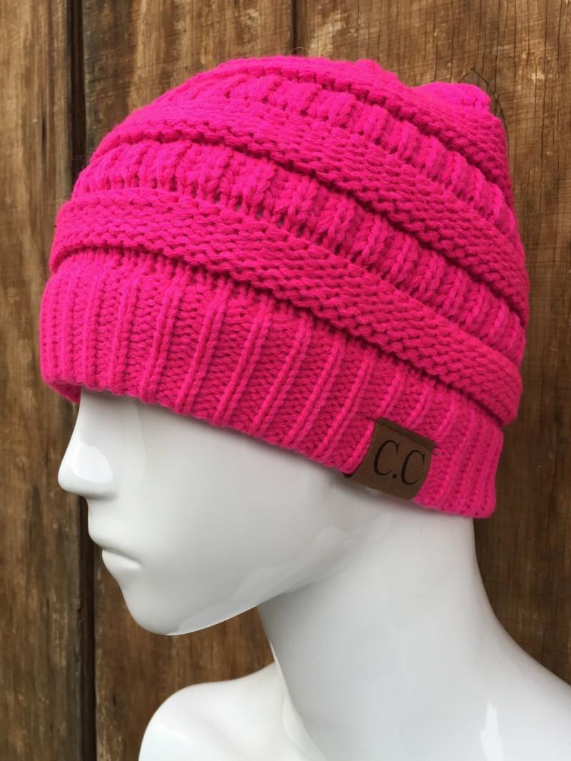 """2db889033a5079 Home/Shop/Accessories/Beanies / Hats. """"Hot Pink"""" CC Beanie"""