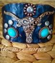 Gray Longhorn Hammered Bracelet