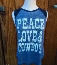 Peace Love & Cowboys Tank Top