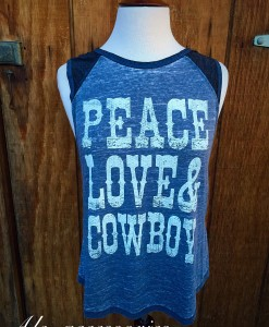 Peace Love & Cowboys Tank Top