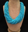 Chunky Turquoise Seed Beaded Necklace