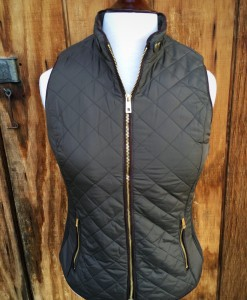 OLIVE GREEN FAUX SHEARLING VEST