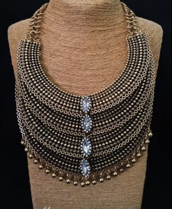 4 Layer Fashion Statement Necklace