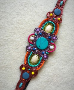Zavannah Colorful Beaded Headband