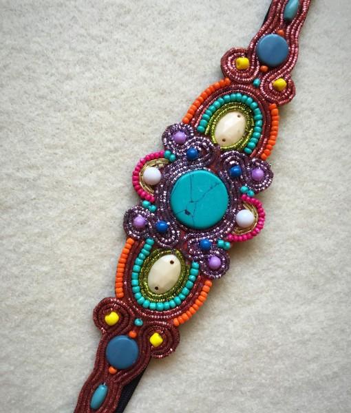 Zavannah Colorful Beaded Headband