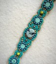 Turquoise Stone  Mini Flower Beaded Headband