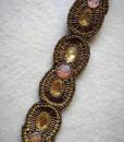 """""""Sonia"""" Fashion Beaded Headband _ Gold"""