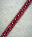 Hot Pink & Metallic Pink Beaded Headband