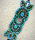 Karen Turquoise & Crystal Beaded Headband