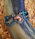 Cowgirl & Horse Antique Bracelet