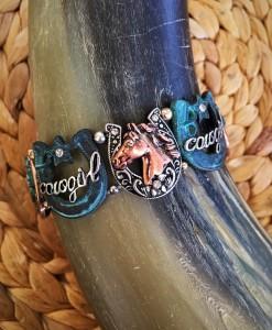 Cowgirl & Horse Antique Bracelet