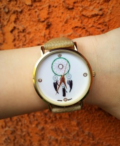Popular Dream Catcher Face Watch ( Cream )