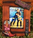 Cowgirl Boot picture Frame ( 4 X 6 )