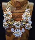 Flower Crystal Statement Necklace