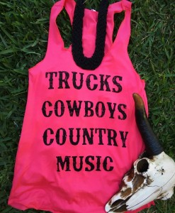 Coral Trucks, Cowboys, Country Music Tank Top