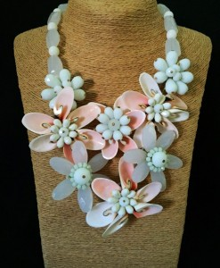 Multi Flower Shell Necklace