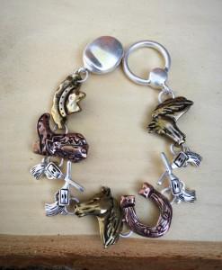 Western Matte Two Tone Bracelet