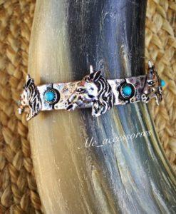 Turquoise & Horse Bracelet