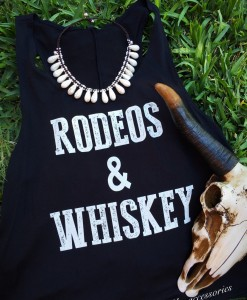RODEOS & WHISKEY TANK TOP