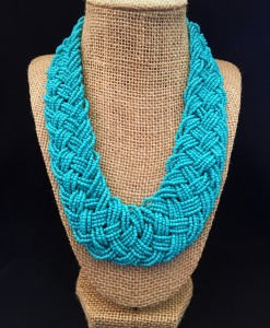 Classic Turquoise Bead Necklace