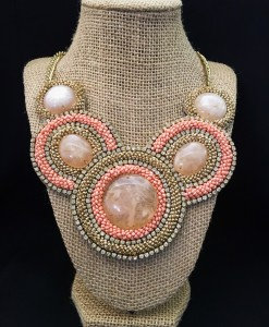 Pink & Nude Fashion Necklace