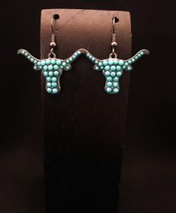 Turquoise Longhorn Earrings