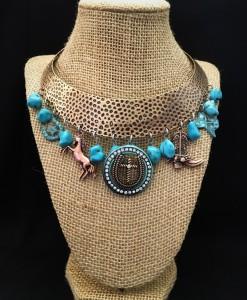 Western Charm & Turquoise Choker