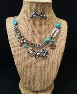 Riding Cowboy Charm Necklace
