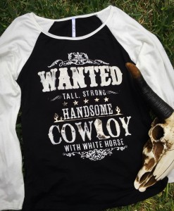 Wanted Cowboy Long Sleeve
