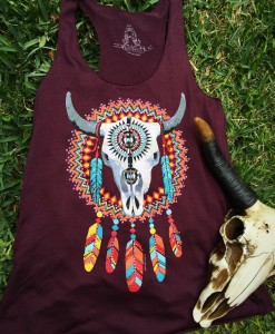 Bull Skull & Dream Catcher Tank Top