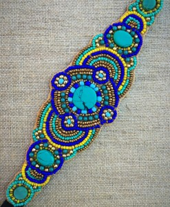 Turquoise Beaded & Mix Headband