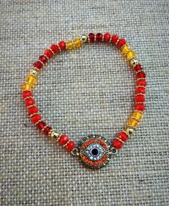Evil Eye Bracelet ( Red )