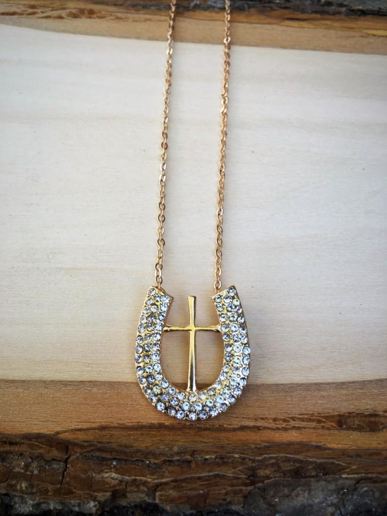 Cross on a Horseshoe Bracelet