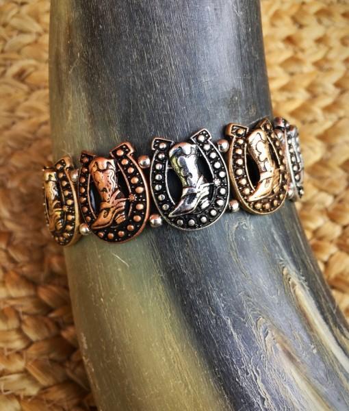 Western Boot Bracelet