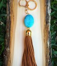 turquoise Stone Keychain