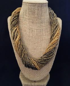Seed Bead Necklace ( Gold Tone )