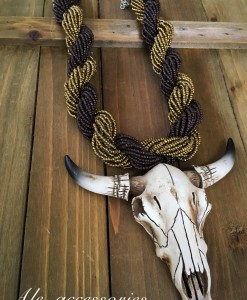 Longhorn Skull Pendant Necklace