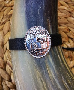 Praying cowboy concho Bracelet