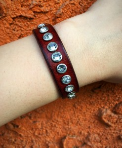 Crystal Leather Bracelet