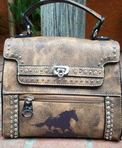 MONTANA WEST HORSE PRINT BAG
