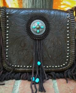 FLORAL FRINGE BAG