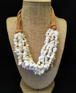 White Stone Strand Necklace