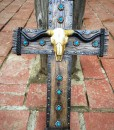 CROSS WITH BULL SKULL