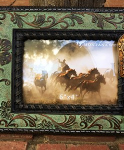 Montana West Floral Buckle Resin Texture Photo Frame