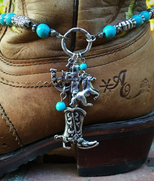 Turquoise & Western Mix  Boot Charm