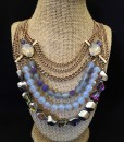 LAYER PURPLE CRYSTAL & MIX NECKLACE