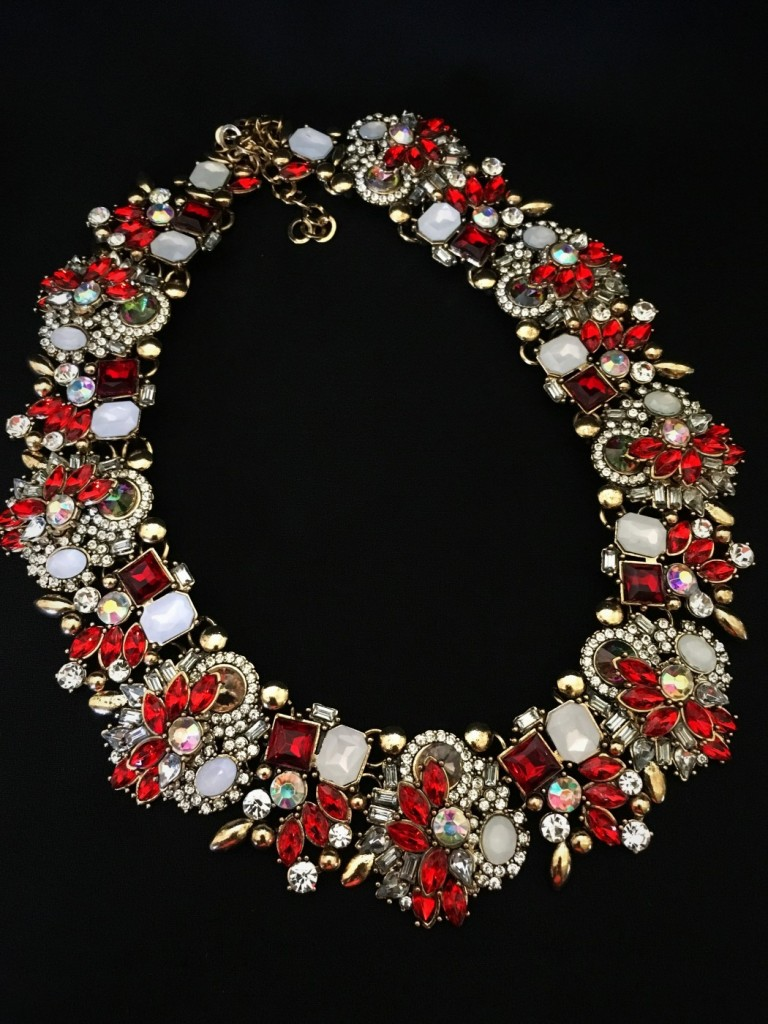Multi Crystal Fashion Necklace