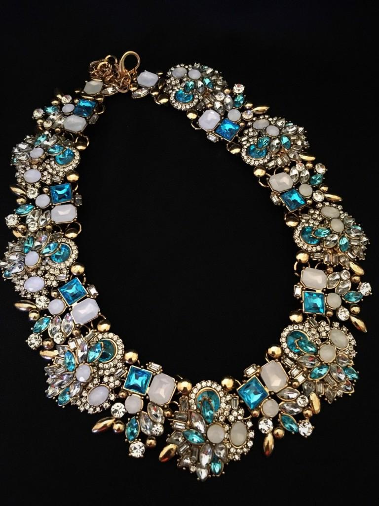 Multi Crystal Fashion Necklace