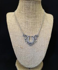horseshoe & rose necklace